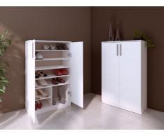 Mueble zapatero MATHIAS - Color blanco - 2 puertas