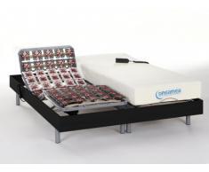 Cama eléctrica con memoria de forma HESIODE III de DREAMEA - Motor OKIN - Negro - 2x80x200 cm
