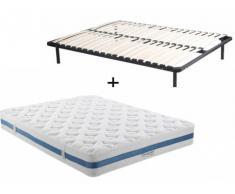 PACK Colchón de 1008 muelles ensacados AIRPLAY de DREAMEA PLAY + Somier de láminas - 160x200 cm