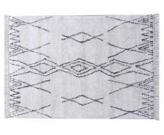 Alfombra tufted de estilo bereber de algodón MEDINA - 160 x 230 cm - Crema