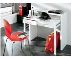 Consola escritorio SISKO - 2 cajones - Abedul - Color blanco