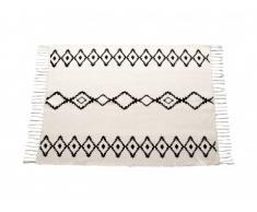 Alfombra estilo bereber JACALA - 100% algodón - 120x170 cm - Beige
