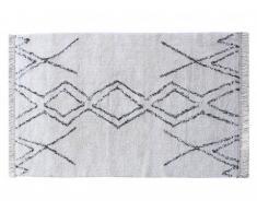 Alfombra de pasillo tufted estilo bereber de algodón MEDINA - 80 x 200 cm - Crema