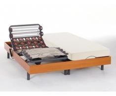 Cama eléctrica de láminas y terminales - HEDONA de NATUREA - Cerezo - 2x80x200 cm