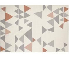 Alfombra de estilo contemporáneo COIMBRA - 100% polipropileno - 120x170cm - Beige, gris y bronce