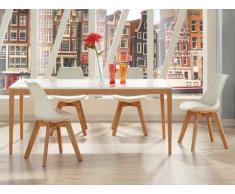 PACK Comedor 5 productos: mesa SEDNA y 4 sillas PADDY - Color blanco