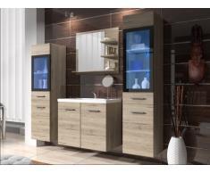 Conjunto LAURINE con leds - muebles para baño - roble