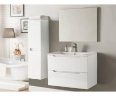 Conjunto STEFANIE - muebles para baño y espejo - Lacado blanco