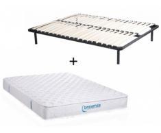 PACK colchón de muelles ensacados PRESTIGE de DREAMEA + somier de láminas - 22cm de espesor - 140x200 cm