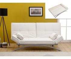 Sofá cama clic-clac de piel sintética ATLANTA II - Blanco
