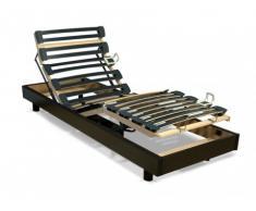 Somier articulado eléctrico láminas multipliegue - 5 posiciones - 80x200 cm - Negro