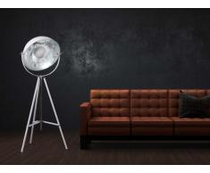 Lámpara de pie MOVIE - Alto 166 cm - Bicolor: interior plateado exterior blanco - Marca INSIDEART