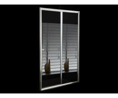 Mampara de ducha corredera con espejo CRISTINA - 120x190 cm