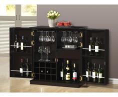 Mueble de bar GORDON - Hevea & MDF - Wengué