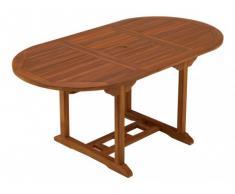 Mesa de comedor de jardín extensible AKUDA - Teca - Largo 120-170 cm