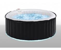 Jacuzzi hinchable 6 personas B-LIGHT con LEDs de 4 colores - Blanco y Negro