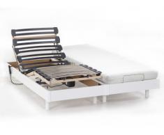 Cama articulada eléctrica NIGHT de DREAMEA - 2x80x200 cm - Blanco