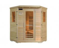 Sauna rinconera de infrarrojos 4/5 plazas WIBERG - Gama Carbono