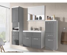 Conjunto de baño CLAUDIA - Muebles + lavabo + espejo - Lacado gris