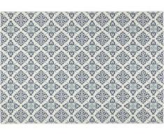 Alfombra de interior y exterior con estampado tipo mosaico MOSQUEE - Polipropileno - 160 x 230 cm - Azul