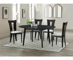 Conjunto mesa de comedor + 4 sillas TIFFANY - Haya maciza wengué