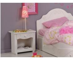 Mesa de noche WENDY - 1 cajón - Blanco