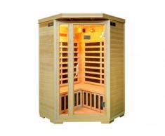 Sauna rinconera de infrarrojos 2/3 plazas ARVIKA II - Gama Prestige
