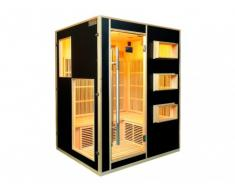 REBAJAS - Sauna de infrarrojos 3/4 plazas MIKELI III - Gama Prestige - Negro