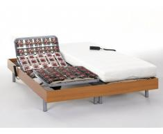 Cama articulada eléctrica con memoria de forma PERSEE de DREMEA - Motores OKIN - Cerezo - 2x80x200cm