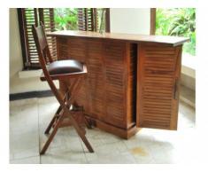 Mueble de bar TARAKAN - Teca maciza