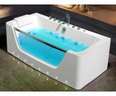 Bañera de hidromasaje con leds DYONA - 1 plaza - 260 L - 85 x 170 x 58 cm