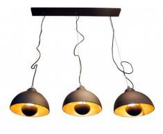 Lámpara de cine de estilo industrial MOVIE - Ancho. 110 cm - Interior dorado y exterior negro de la marca INSIDE ART