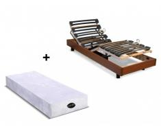 Cama eléctrica articulada con colchón natural memoria de forma PARURE de NATUREA - Cerezo - 80x200 cm