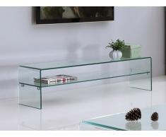Mueble TV STILEOS - 1 hueco - Cristal templado