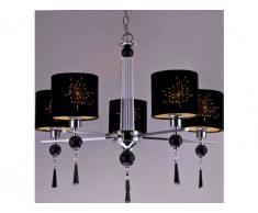 Lámpara de araña de 5 brazos KENDRA - Adornos de cristal - 64x64x56 cm