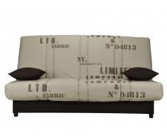 Sofá cama clic-clac FARWEST 100% algodón con baúl - Estampado VINTAGE