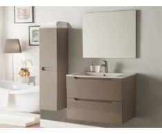Conjunto STEFANIE - muebles para baño y espejo - Lacado topo