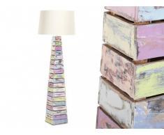 Lámpara de pie ARBOGA Teca reciclada Altura 168 cm