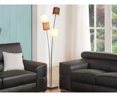 Lámpara 4 pies VARIETA - Metal y tela - Altura 160 cm
