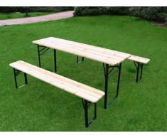 Mesa de pícnic con dos bancos plegables JAVA