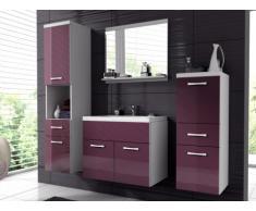 Conjunto de baño CLAUDIA - Muebles + lavabo + espejo - Lacado lila