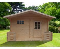 Sauna de uso exterior 4/5 plazas KEVEREI III - 2 cuartos