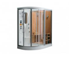 Ducha rinconera HAUMEA - Hidromasaje, sauna, baño de vapor - Ángulo derecho