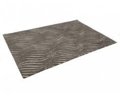 Alfombra MINAMI - Gris - Poliéster - 160x230 cm