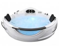 Bañera de hidromasaje rinconera ELIOS - 2 plazas - 16 chorros