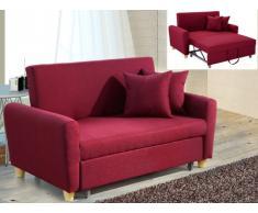 Sofá cama 2 plazas de tela XAVIER - Color rojo