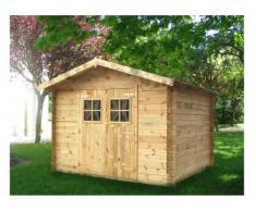 Caseta de jardín 9m² de 28mm - Madera - TAKEA - Gama Prestige
