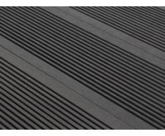 Lote de 30 láminas para terraza TERAE II - Pack 9.60m² - Negro wengué