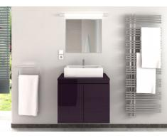 Muebles de baño LAVITA II con lavabo y espejo - Ciruela