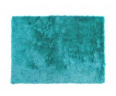Alfombra shaggy sedosa PORTOFINO azul - Poliéster - 160x230 cm